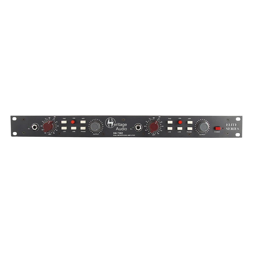 Heritage Audio HA73X2 Elite Dual-Channel Full Rack Mic Pre