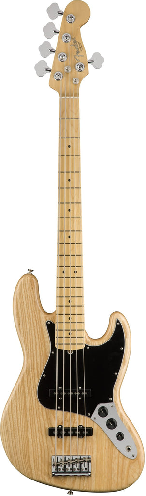 Fender American Professional Jazz Bass V 5 String Bass Guitar - Maple Fingerboard, Natural