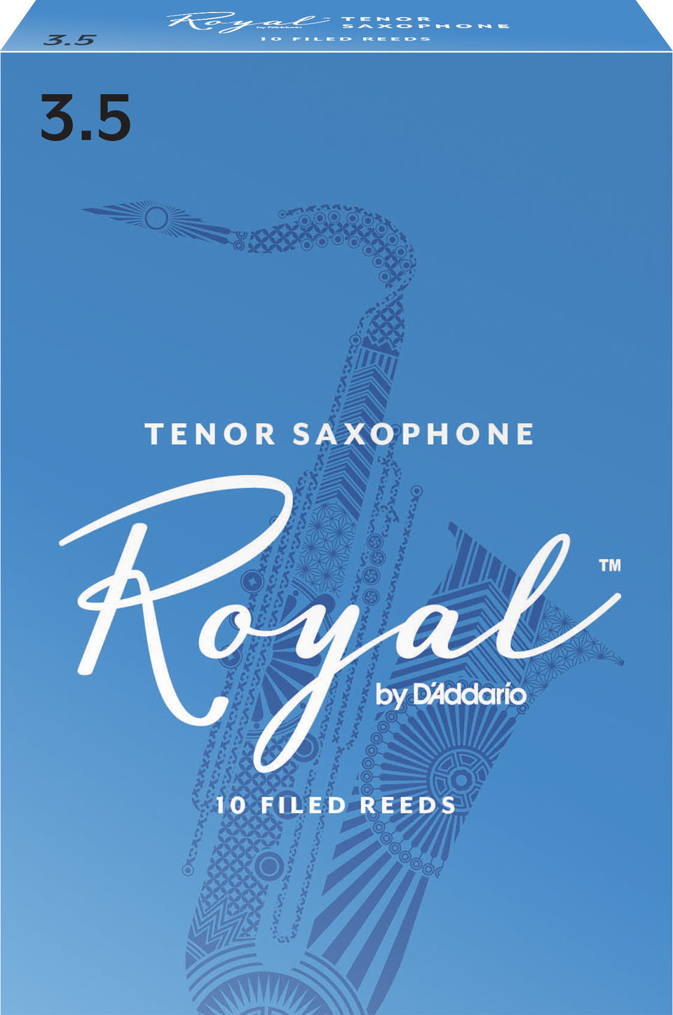 D'Addario RKB1035 Royal Tenor Sax Reeds, Strength 3.5, 10-Pack