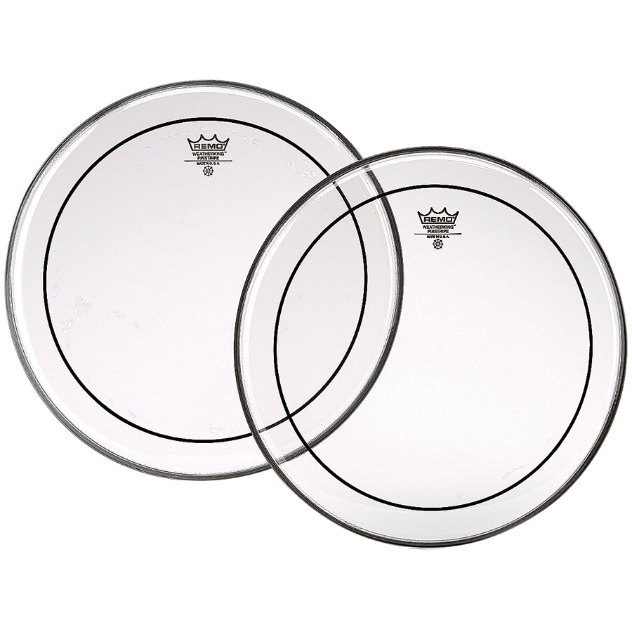 Remo Pinstripe Clear Drum Heads