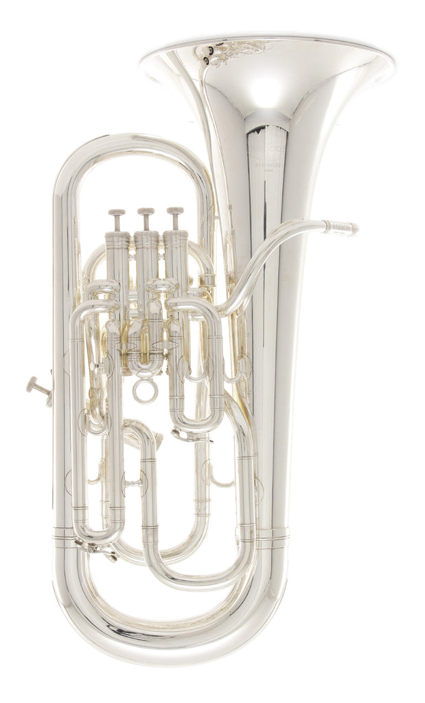 Besson BE968-2-0 B-Flat Euphonium - Silver Plated Sovereign Series