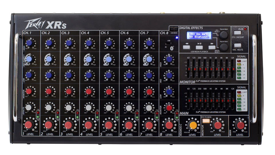 Peavey XR-S 1000W 8 Channel Powered Mixer