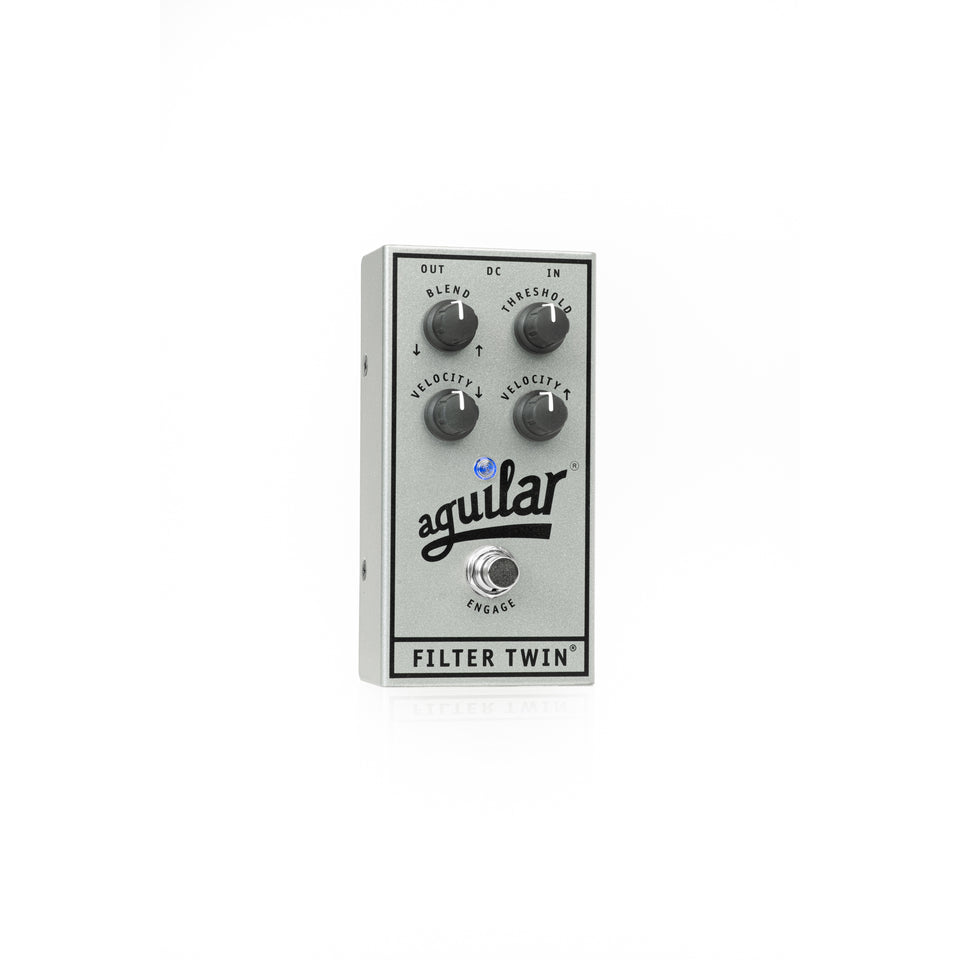 Aguilar 25th Anniversary Filter Twin Envelope Filter Pedal - Limited Edition Silver