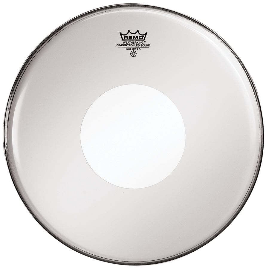 "Remo 14"" Smooth White Controlled Sound Drum Head With White Dot"