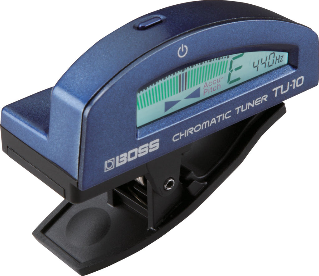 Boss TU-10-BU TU-10 Clip-On Chromatic Tuner BLUE