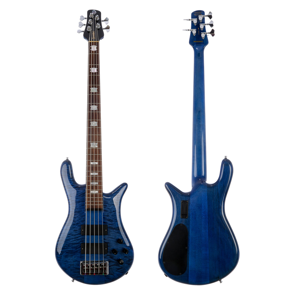 Spector Euro5 LX 5 String Electric Bass - Blue Stain Gloss