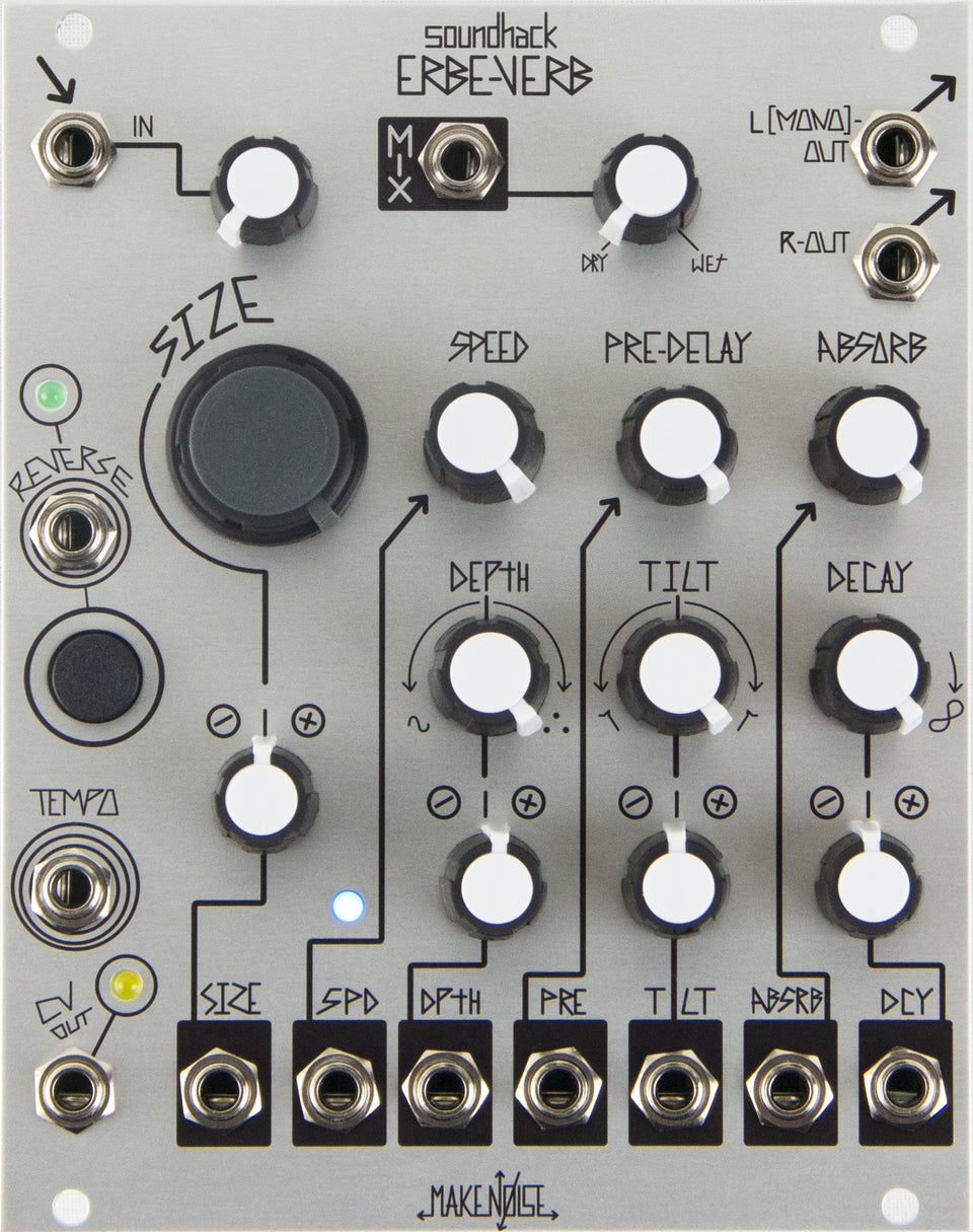 Make Noise Erbe-Verb Continuously Variable Reverb Module