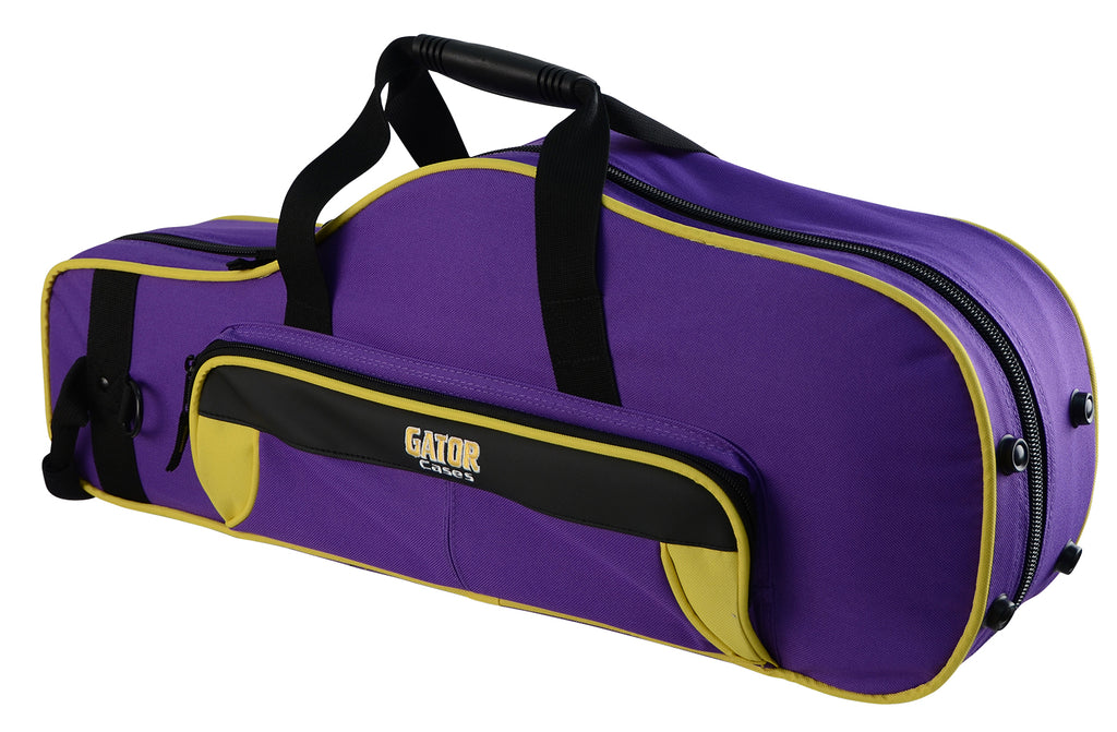 Gator GL-ALTOSAX-YP Spirit Series Lightweight Alto Saxophone Case, Yellow And Purple