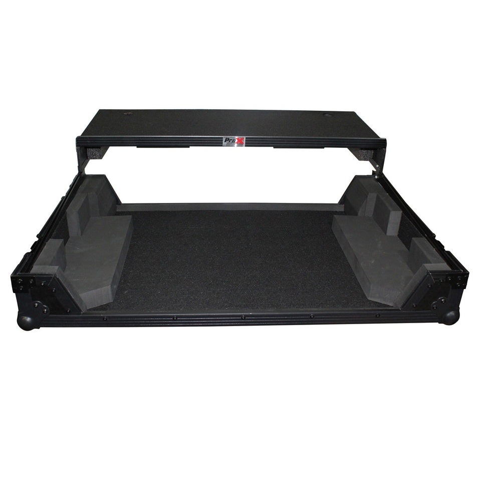 ProX XS-NS7IIIWLTBL DJ Controller Flight Case W/ Wheels & Laptop Shelf