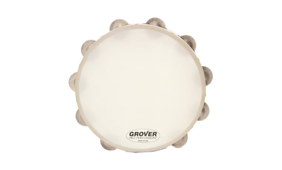 "Grover T1/GS Projection Plus 10"" Single Row Tambourine, German Silver Jingles"