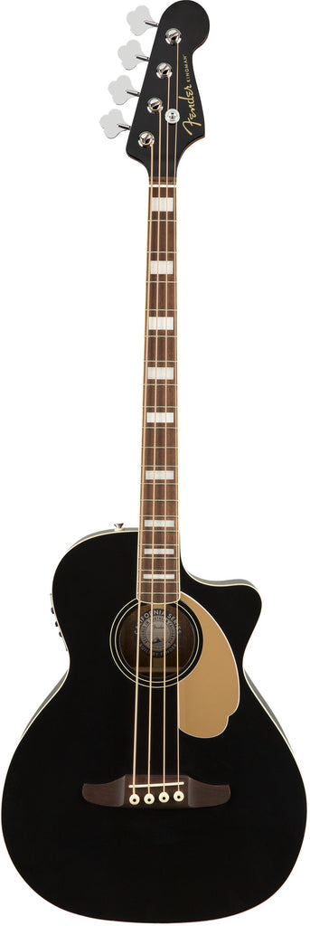 Fender Kingman Acoustic Electric Bass Guitar - Black