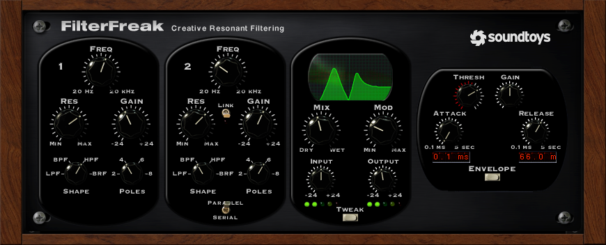 Soundtoys FilterFreak Resonant Analog Filter Plug-In