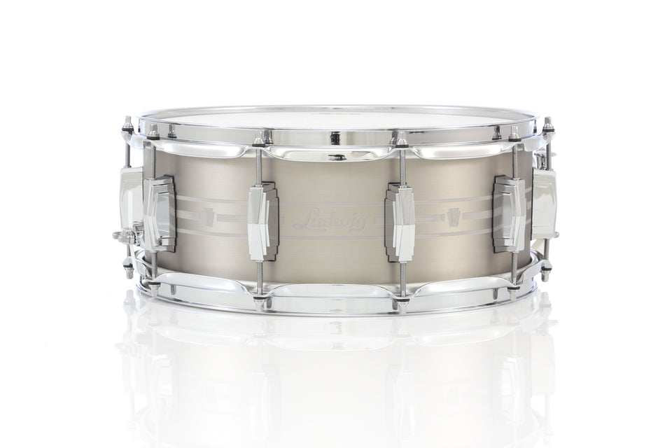 "Ludwig 14"" x 5.5"" Heirloom Stainless Steel Snare Drum"