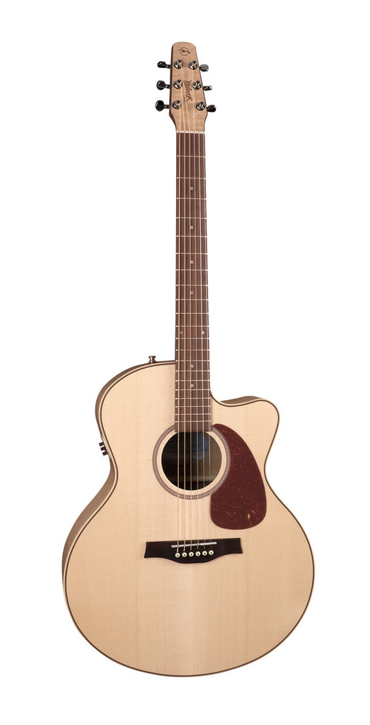 Seagull Performer CW Mini Jumbo Flame Maple HG QIT Acoustic Electric Guitar - Natural