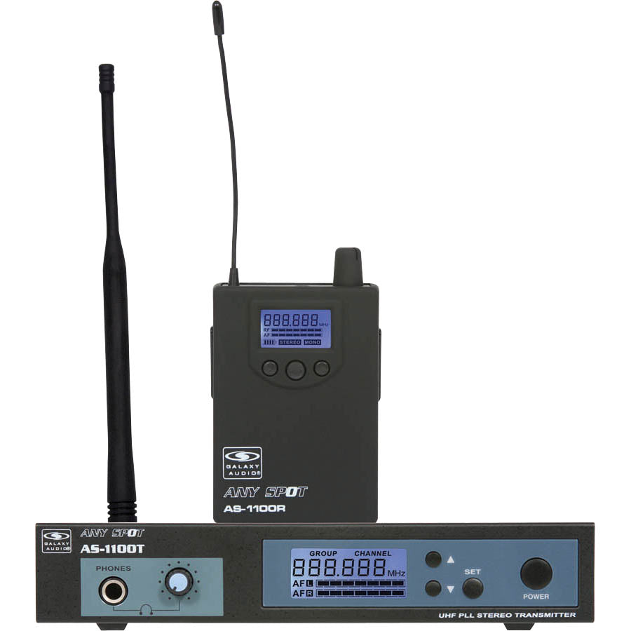 Galaxy Audio AS-1100 Wireless In-Ear Monitor System
