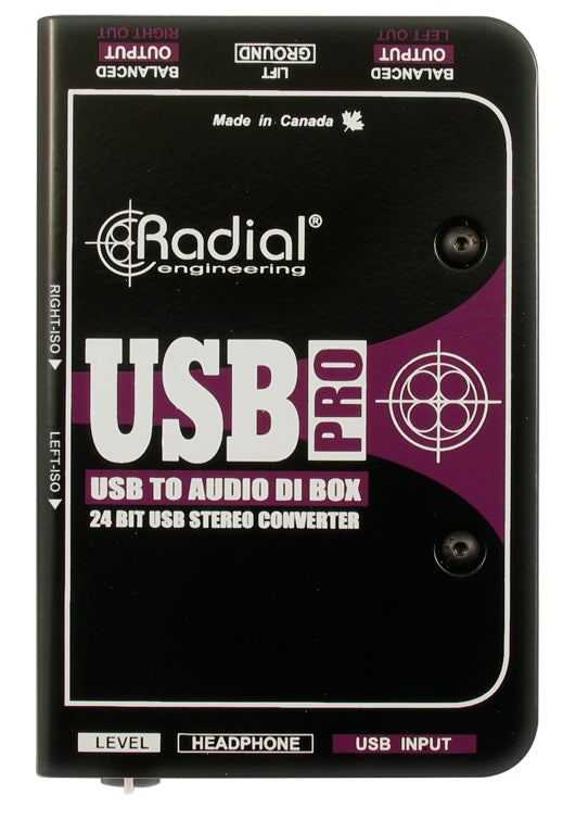 Radial Engineering USB-Pro Stereo USB Laptop DI Box