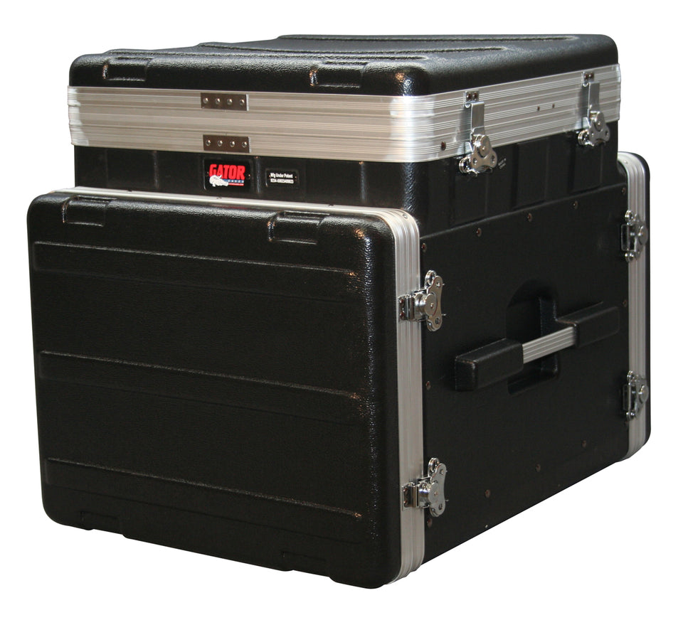 Gator Cases GRC-10X8 PU ATA Molded PE Pop-Up Console Rack 10U Top x 8U Bottom