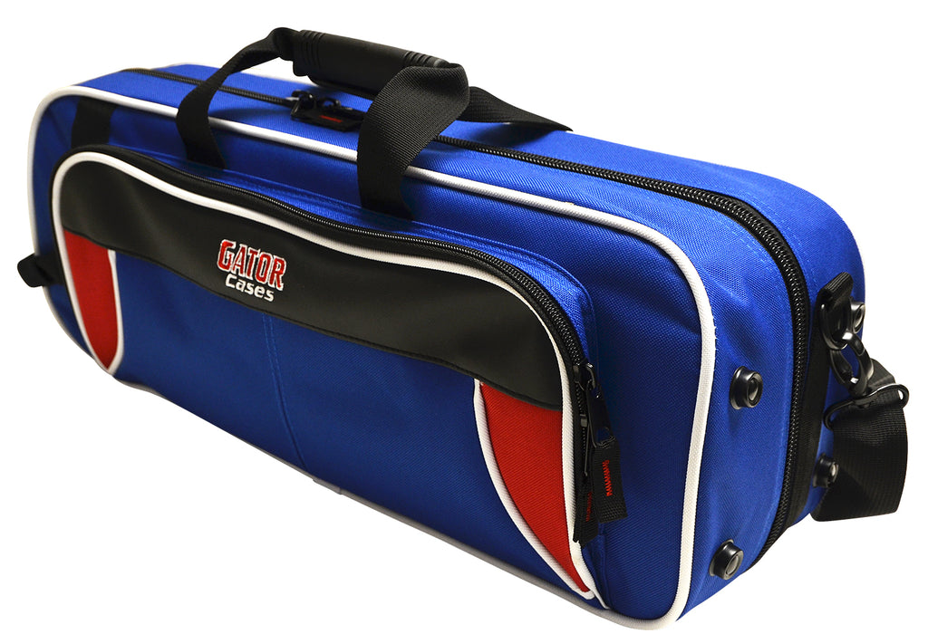 Gator GL-TRUMPET-RB Spirit Series Lightweight Trumpet Case, Red And Blue