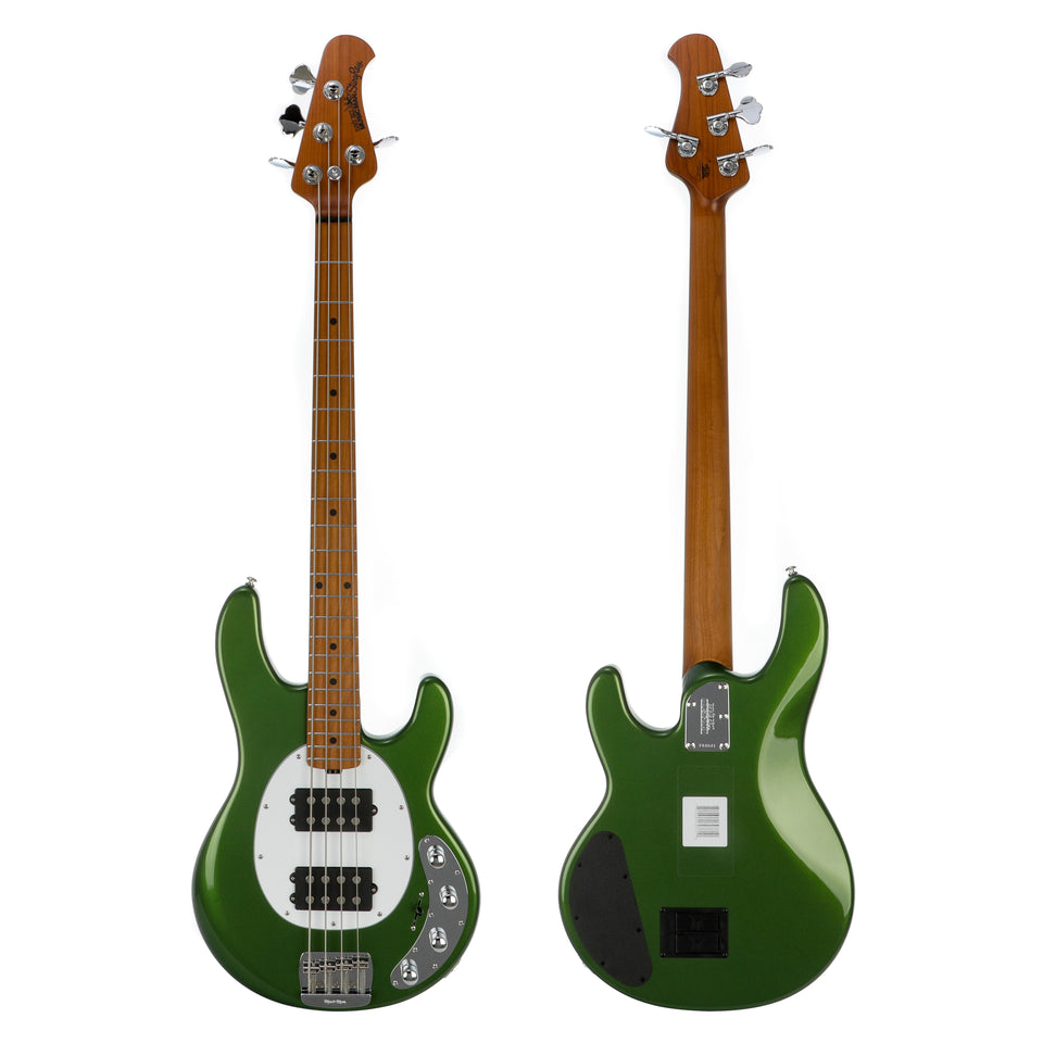 Music Man StingRay Special 4HH Bass Guitar, Roasted Maple Neck & Fretboard - Charging Green