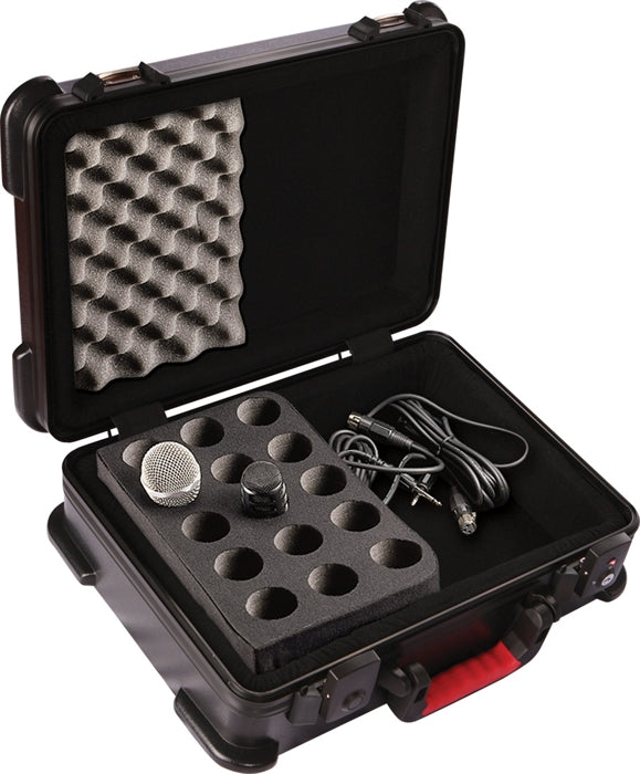 Gator TSA ATA Molded Case w/ Drops for (15) Mics