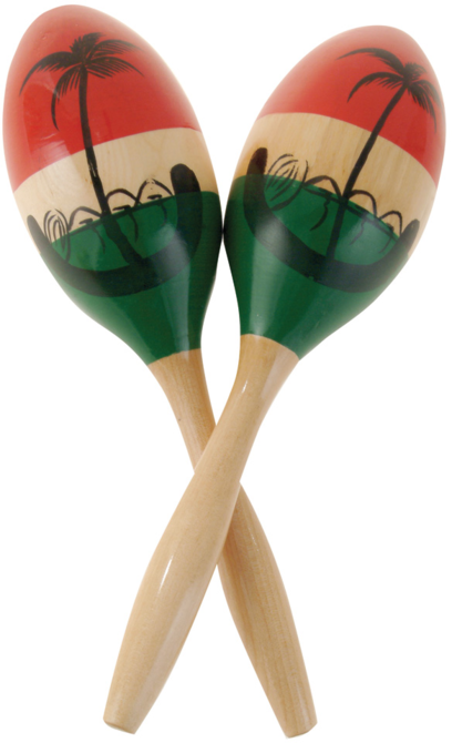 LP CP287 CP Wood Maracas, Medium/Painted