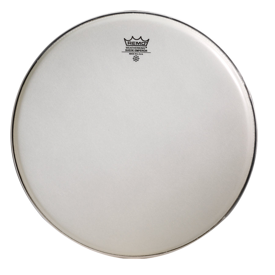 Remo Suede Crimplock Emperor Marching Drum Head
