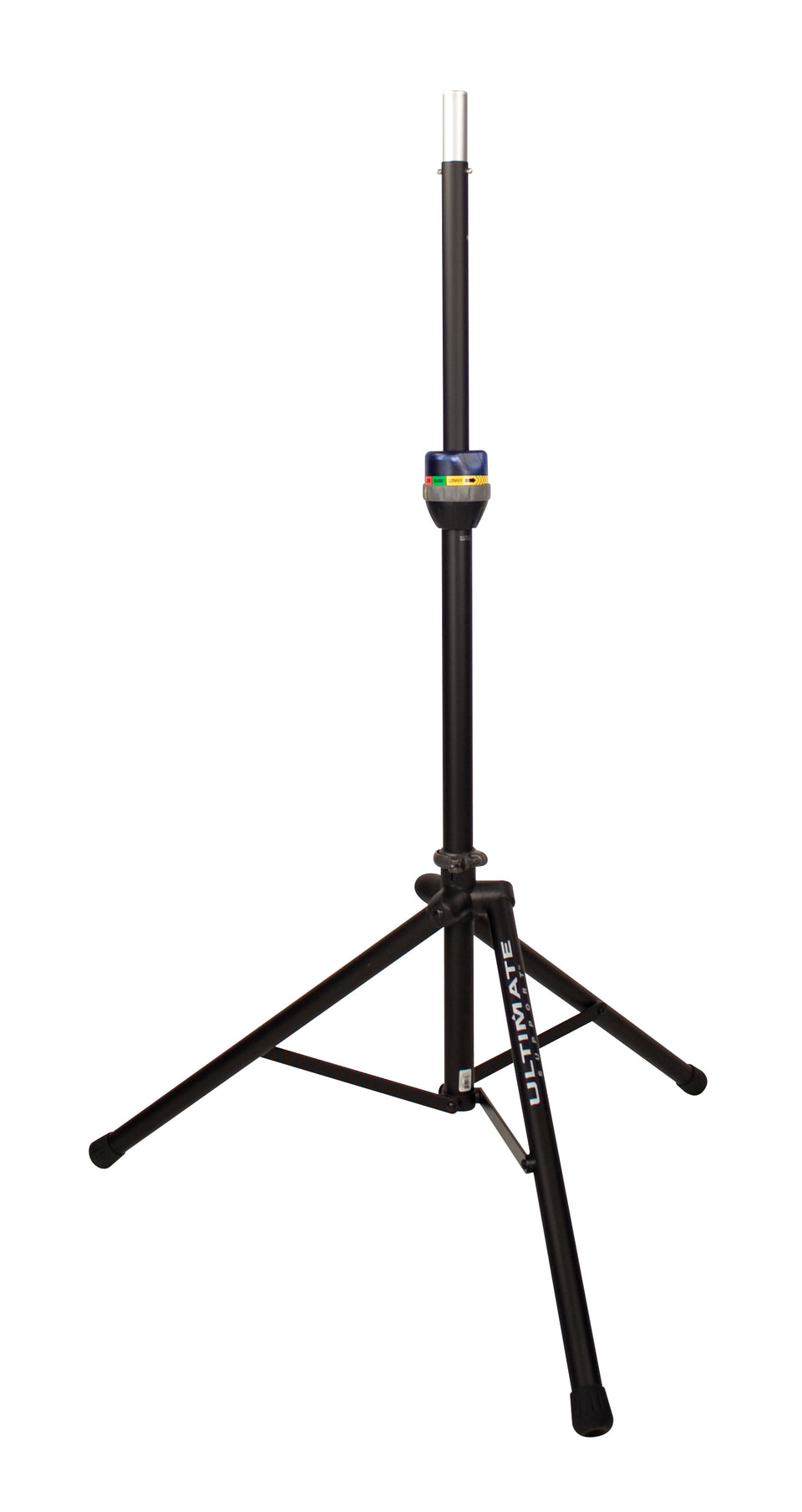 Ultimate Support TS-90B TeleLock Series Lift-Assist Aluminum Speaker Stand With Integrated Speaker Adapter