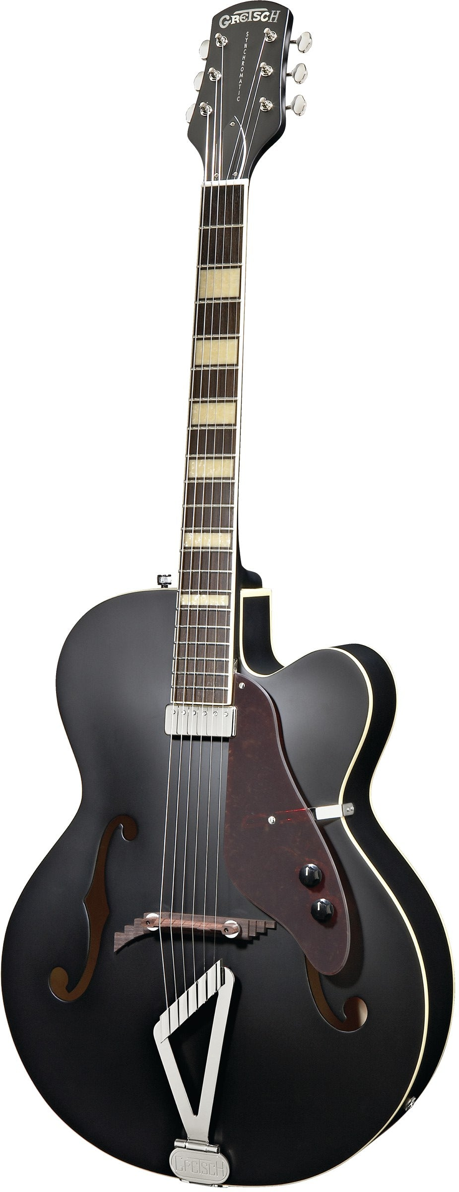 Gretsch G100BKCE Synchromatic Archtop Cutaway Hollow Body Electric, Rosewood Fingerboard, Flat Black