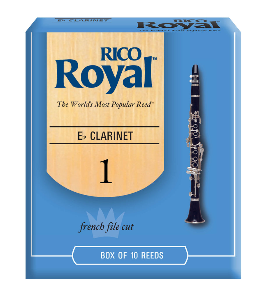 Ddaddario Woodwinds RBB1010 Rico Royal E-Flat Clarinet Reeds, Strength 1.0, 10-pack