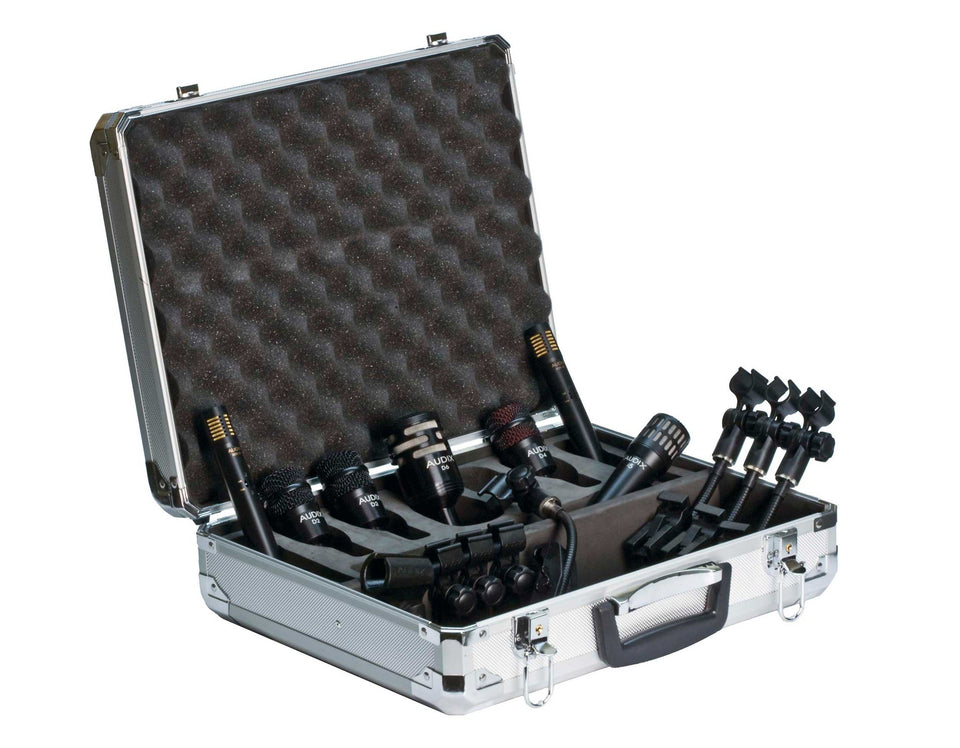 Audix DP7 7-Piece Drum Microphone Package W/ Clips