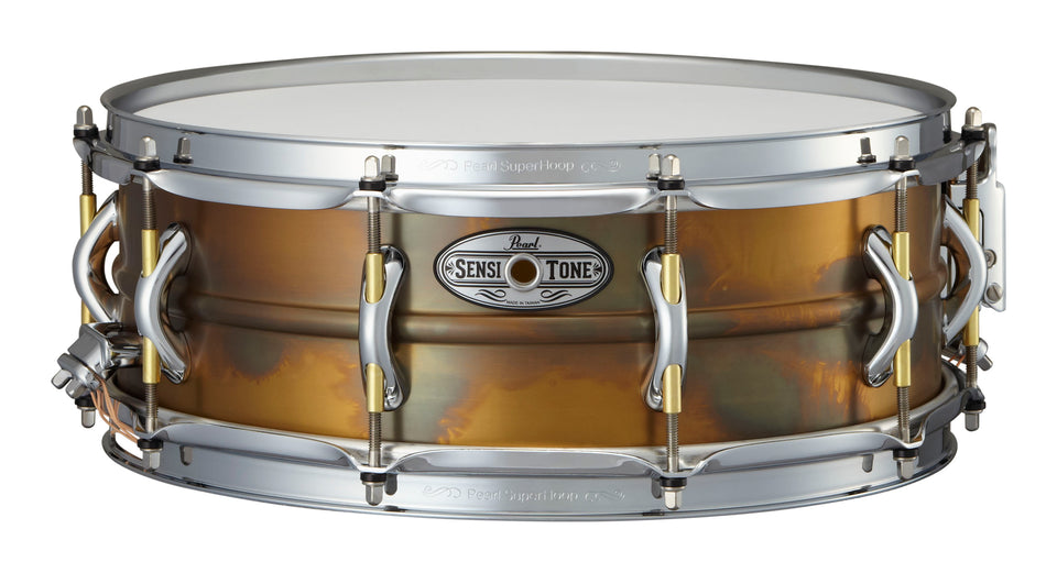 "Pearl 14"" x 5"" SensiTone Premium Beaded Brass Snare Drum"