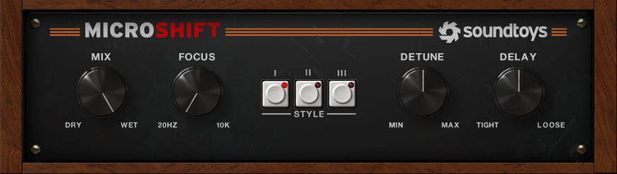 Soundtoys MicroShift Stereo Widening Plug-in