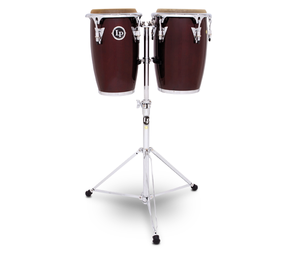 LP LP-JRX-DW Junior Wood Conga Set - Wine Red/Chrome