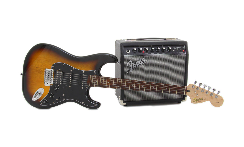 Squier Affinity Series Strat HSS/ Frontman 15G Electric Guitar Package