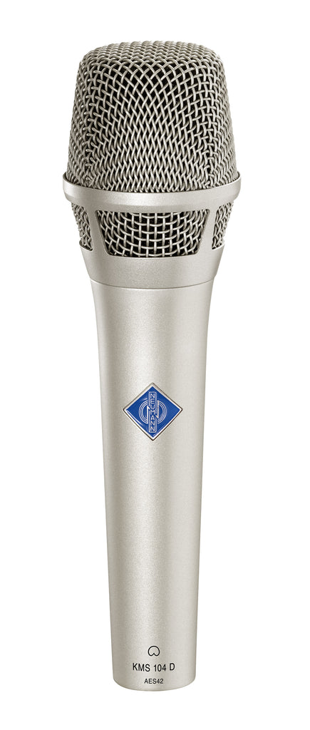 Neumann KMS 104 D Cardioid Microphone W/ KMS Pouch and SG105 - Nickel
