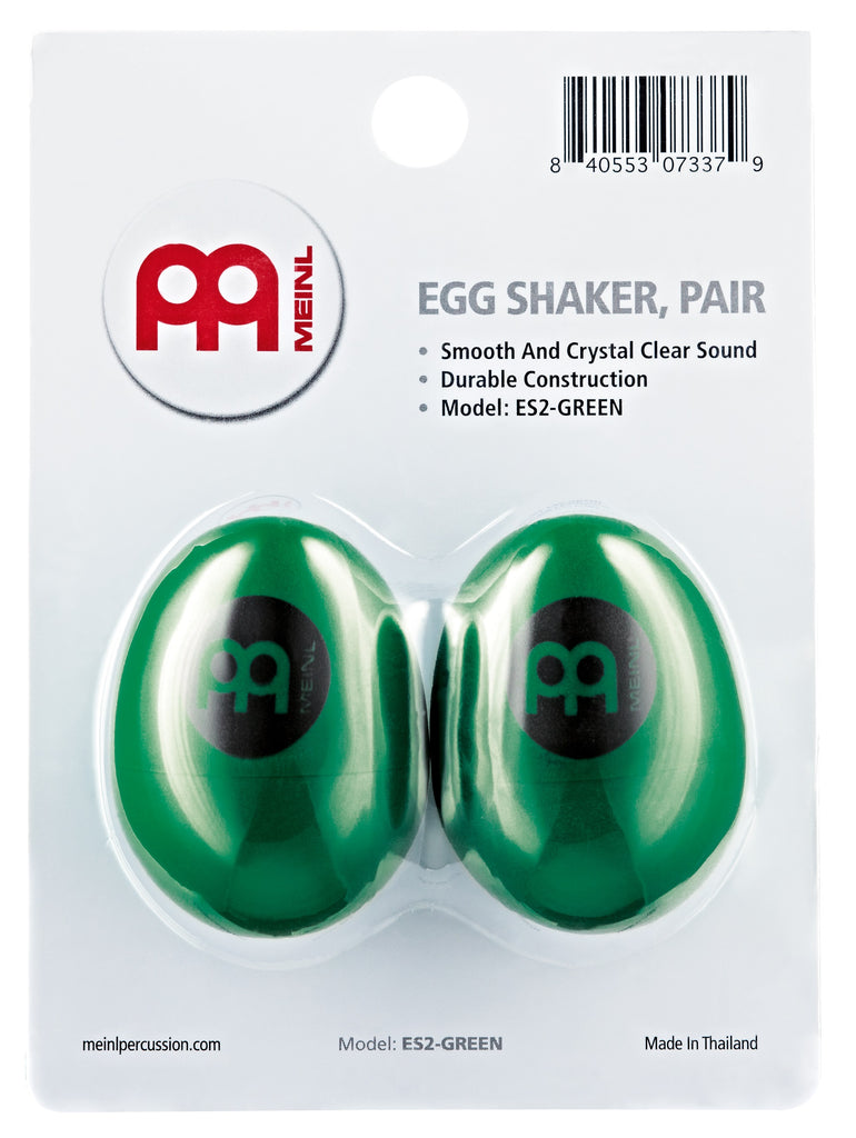 Meinl ES2-GREEN Egg Shaker Pair, Green