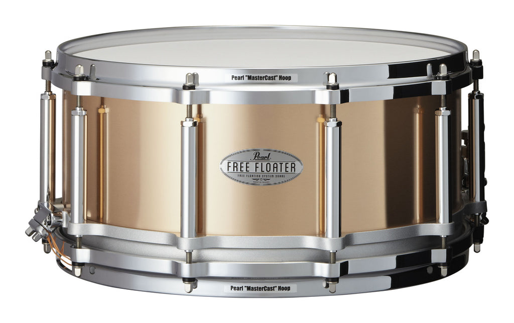 "Pearl 14"" x 6.5"" Phosphor Bronze Free Floating Snare Drum"