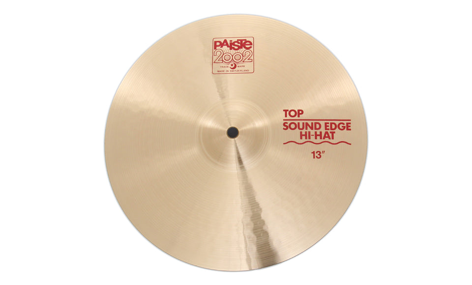 "Paiste 13"" 2002 Sound Edge Hi-Hat Top Cymbal"