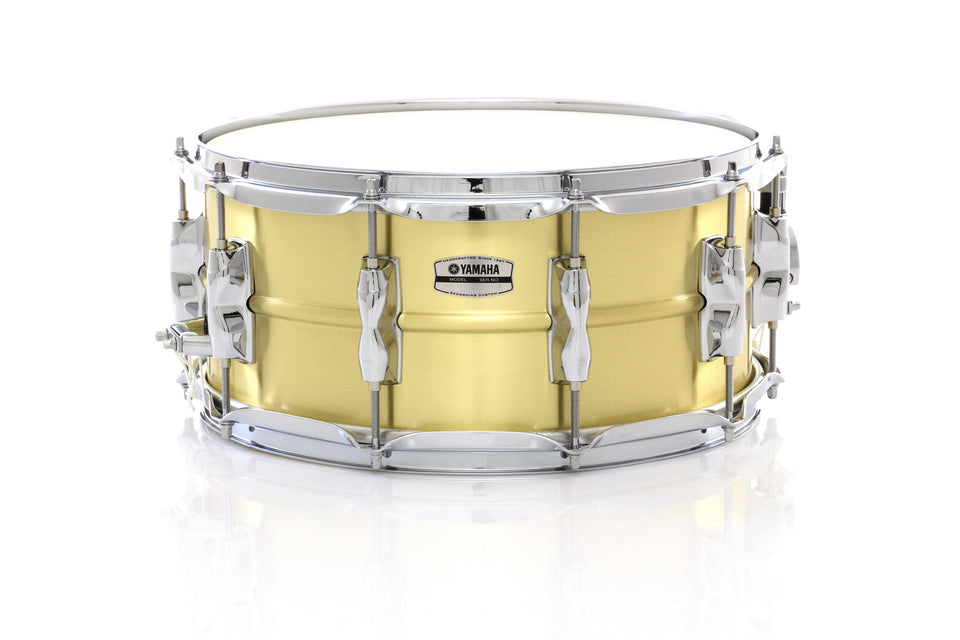 "Yamaha 14"" x 6.5"" Recording Custom Brass Snare Drum"