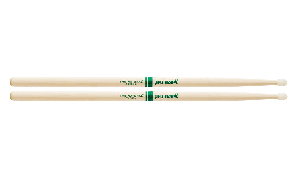 Promark TXR5BN Hickory 5B The Natural Nylon Tip drumstick
