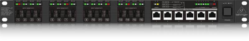 Behringer POWERPLAY P16-I 16-Channel Input Module with ADAT* Optical Inputs