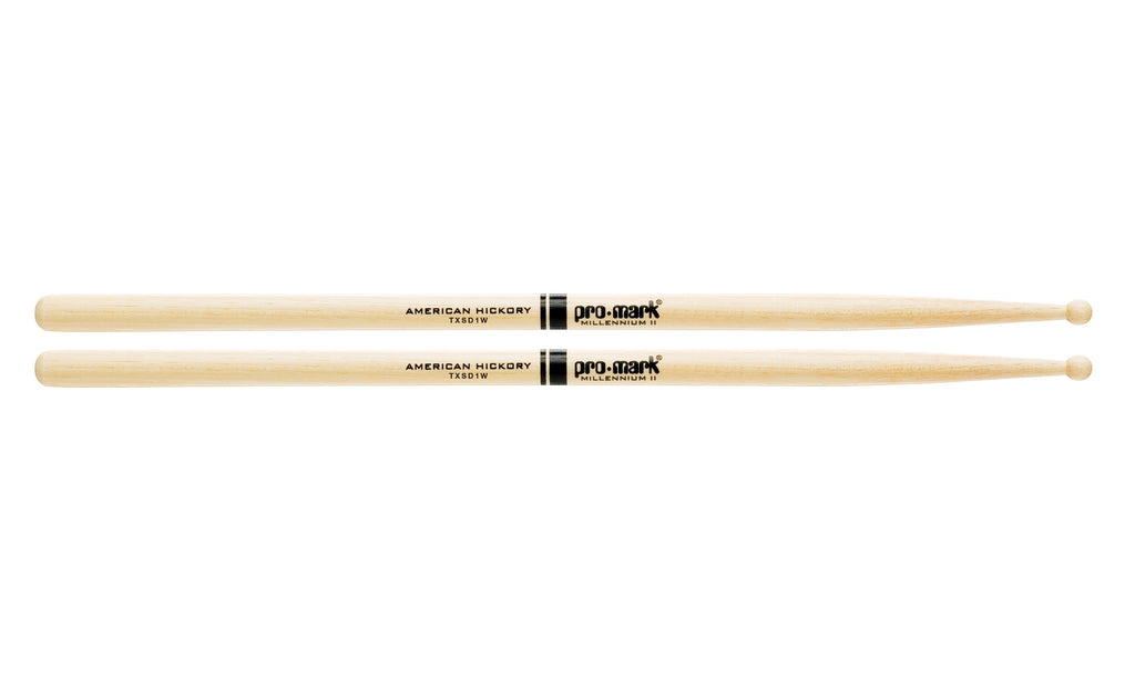 Promark TXSD1W Hickory SD1 Wood Tip drumstick