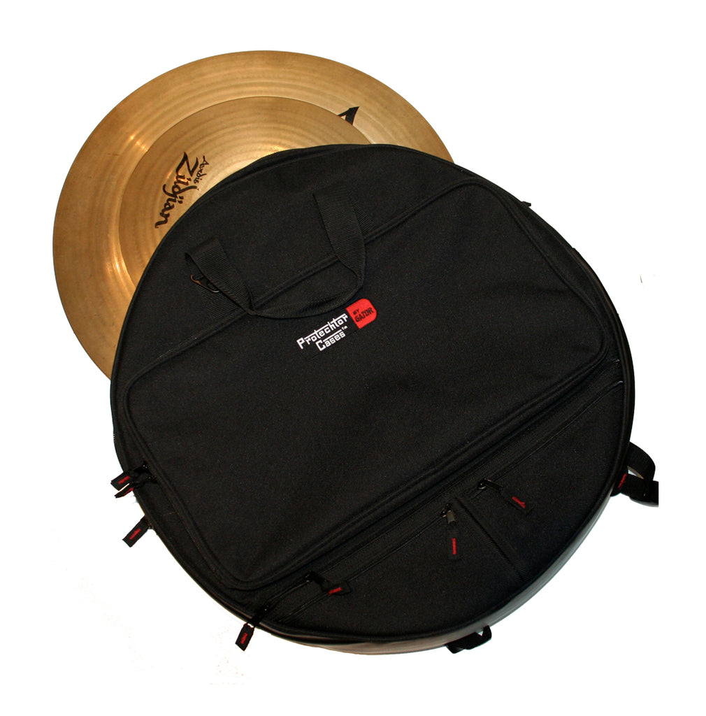 "Gator GP-CYMBAK-24 Heavy Duty Padded Backpack-Style Cymbal Bag For Up To 24"" Cymbals"