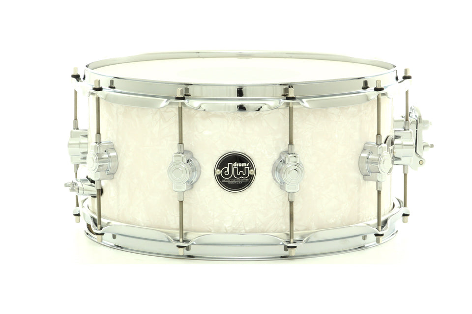 "DW 14"" x 6.5"" Performance Series Snare Drum White Marine FinishPly"