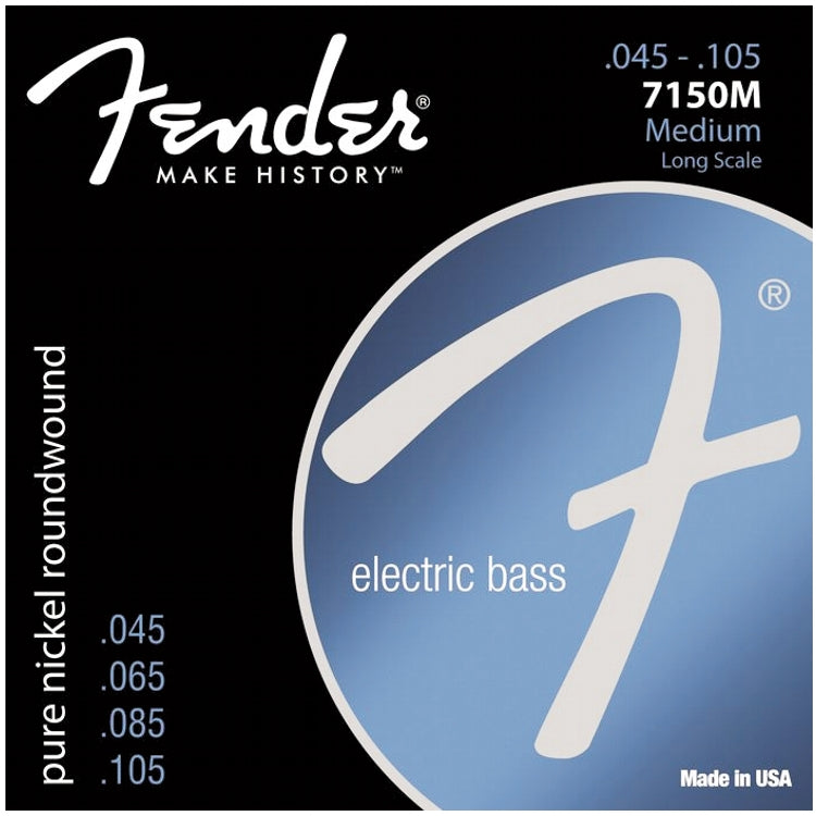 Fender 737150406 7150M Pure Nickel Roundwound Electric Bass Strings, Heavy Medium (45 - 105)
