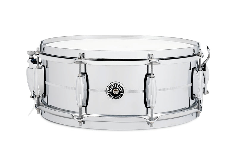 "Gretsch 14"" x 5"" Brooklyn Series Chrome Over Brass Snare Drum"