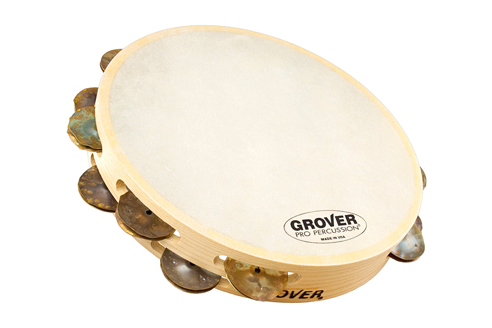 Grover T2/HTC-B Bantamweight 10-Inch Double-Row Copper Tambourine