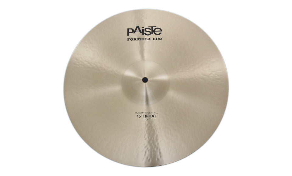"Paiste 15"" Formula 602 Modern Essentials Hi-Hat Top Cymbal"