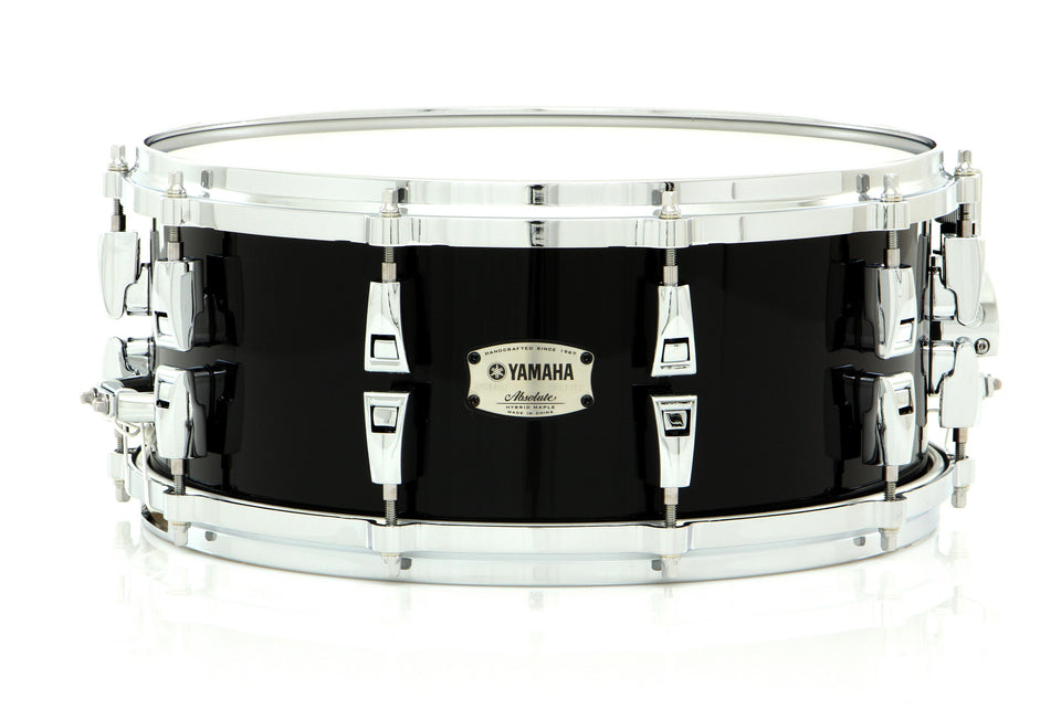 "Yamaha 14"" x 6"" Absolute Hybrid Maple Snare Drum Solid Black"