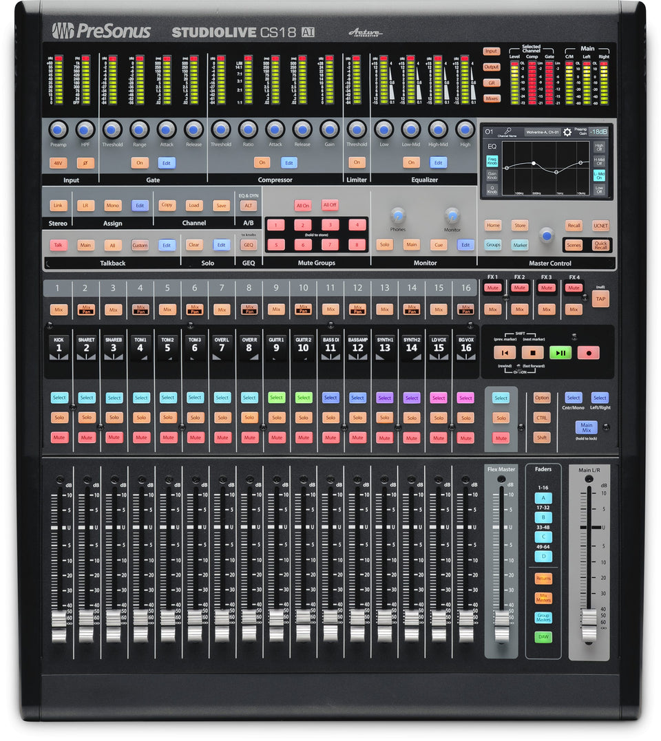 PreSonus StudioLive CS18AI Motorized AVB Ethernet Control Surface